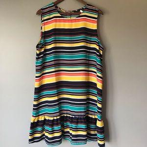 Halogen striped dress NWT size xl